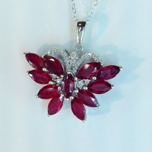 Jewelry - Genuine African Ruby & Zircon Pendant 9.42 Cts